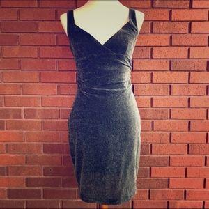 NWOT Nicole Miller Silver Sparkle Party Dress